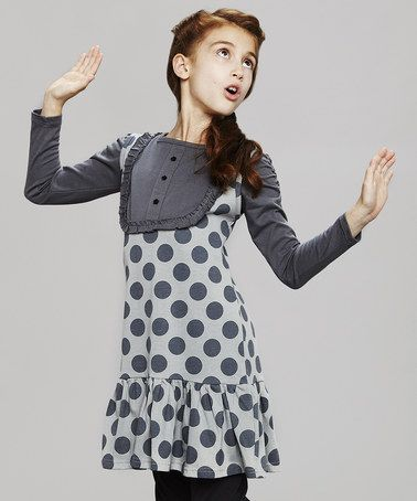 Take a look at this Gray Polka Dot Jumper by Lili Cactus on #zulily today!