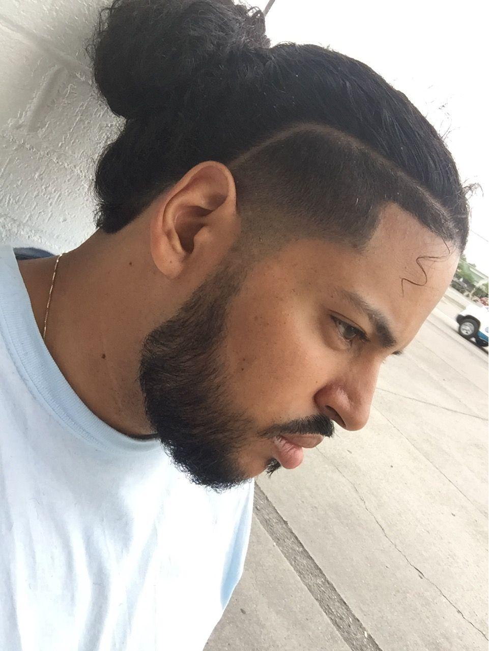Man Bun X Temp Fade Taper Fade Beard Gang Cool Hairstyles For Men Mens Hairstyles Mens Hairstyles Fade