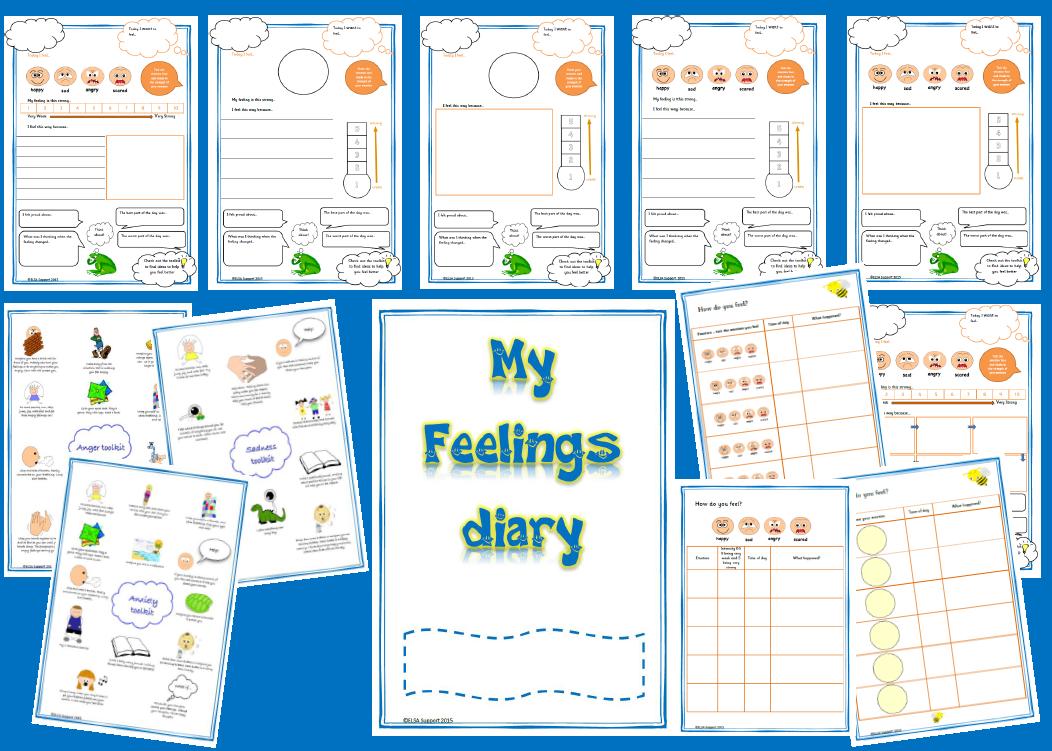 My Feelings diary KS1 - Item 94 - Elsa Support | ELSA Support ...