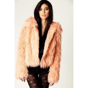 Danielle Bright Faux Fur Shaggy Short Jacket - Polyvore | coats ...