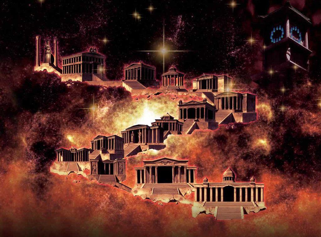 Santuario de athena cdz 12 casas pesquisa google saint seiya saint seiya santuario y - Casas del zodiaco ...