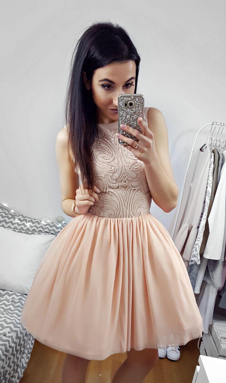 65ab4348dc Tiulowa sukienka w cielistym kolorze   Nude tulle dress 349 zł ...