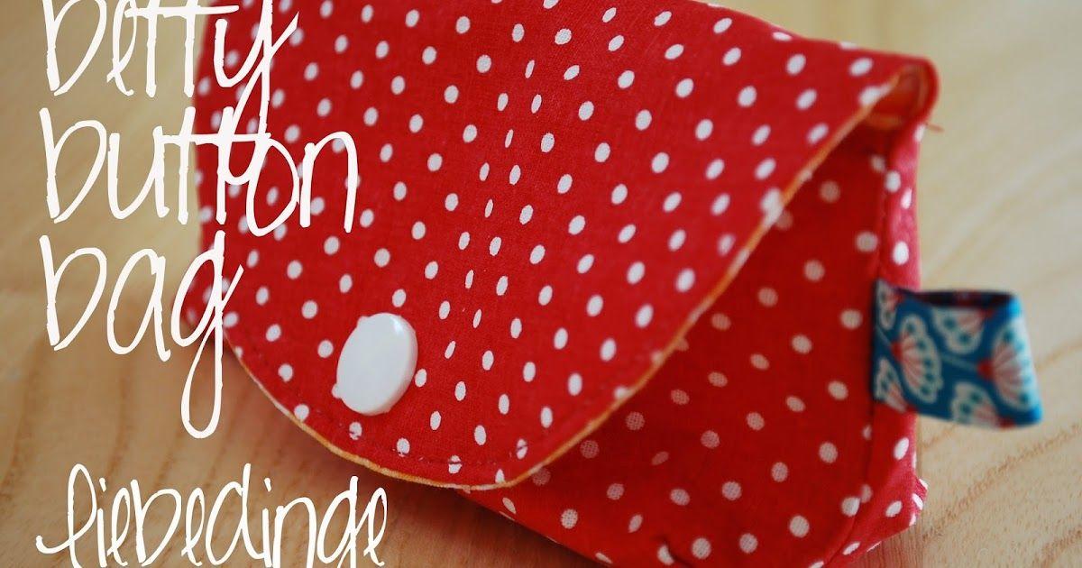 kostenlose Anleitung und Schnittmuster Betty button bag - kleine ...