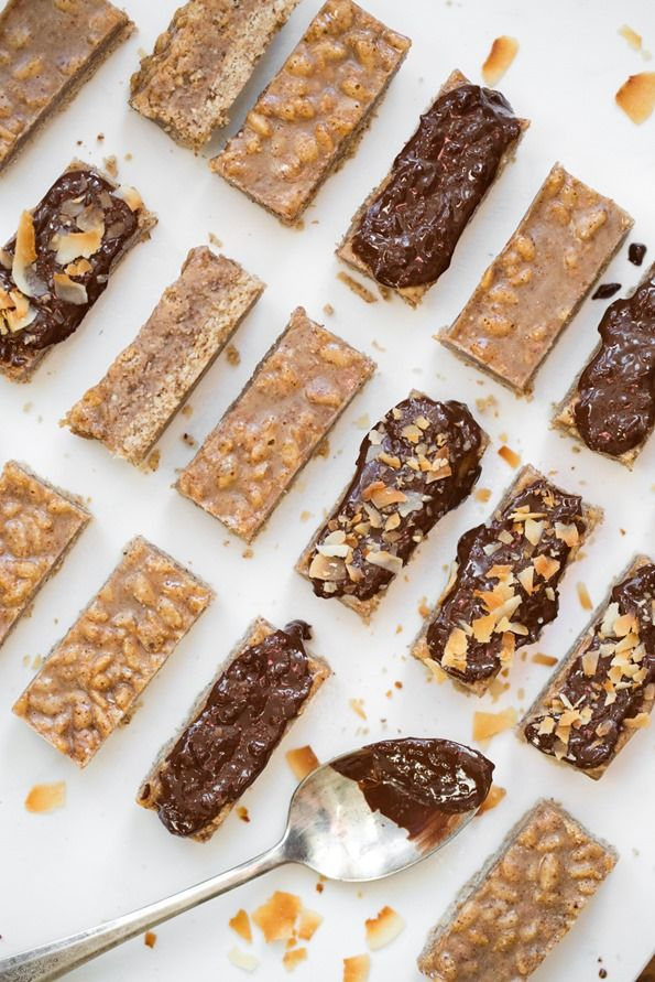 3 Layer Almond Coconut Chocolate Bars