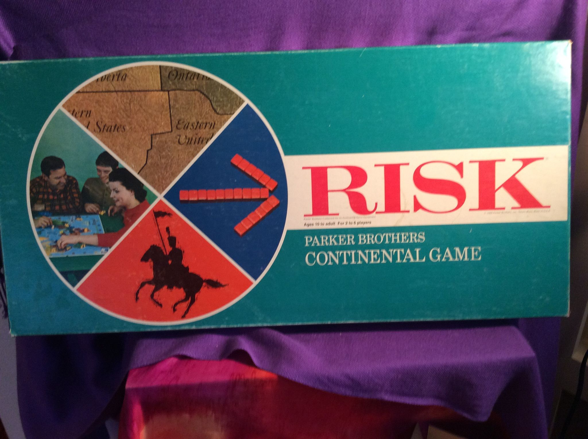 1968 RISK board game Parker brothers games, Board games