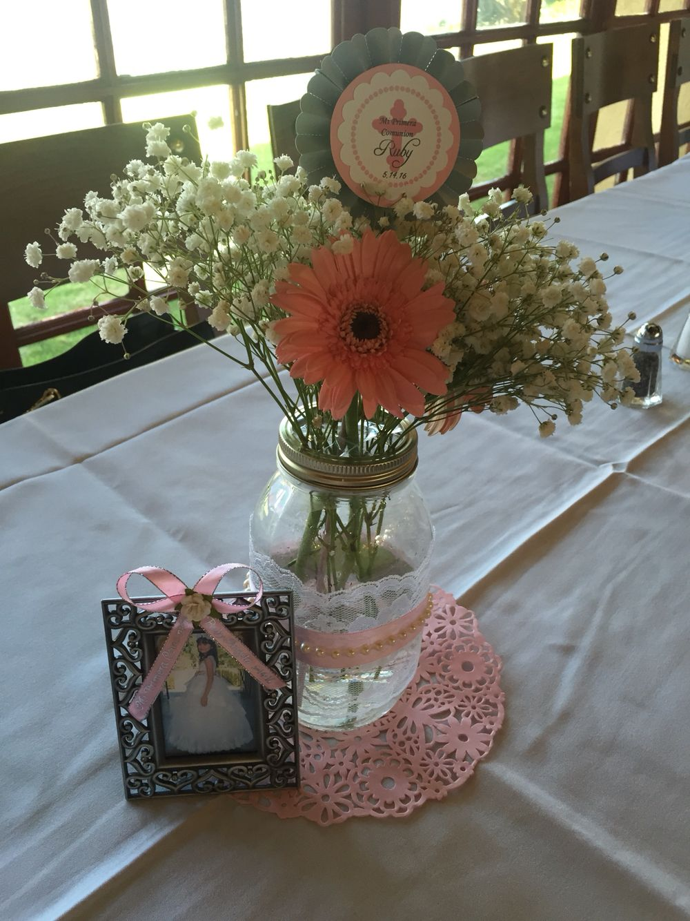 first communion table centerpieces first communion party rh pinterest com