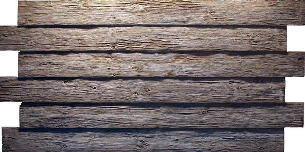 Reclaimed wood panels rustic wood textures faux stone for Faux wood siding