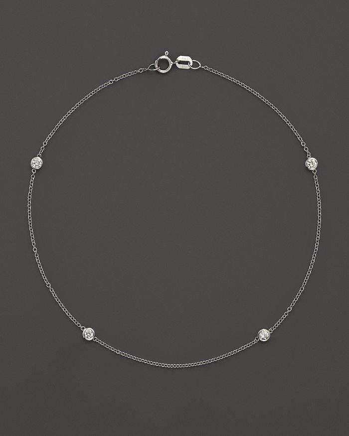 Bloomingdale S Diamond Bezel Ankle Bracelet Set In 14k White Gold 20 Ct T W 100 Exclusive Jewelry Accessories Bloomingdale S Ankle Bracelets Diamond Jewelry