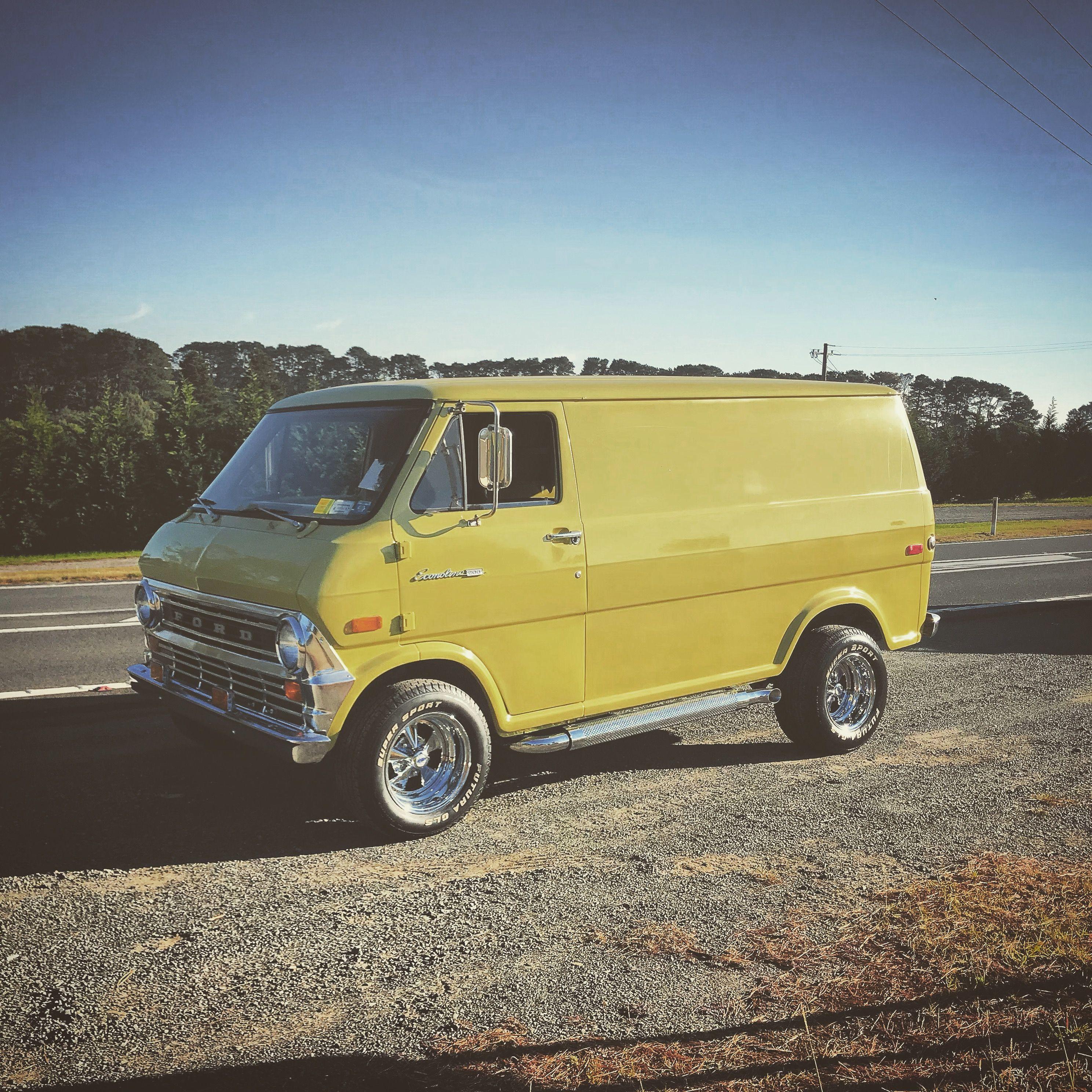 Mellow Yellow Custom Ford Van Ford Van Custom Vans Cool Vans