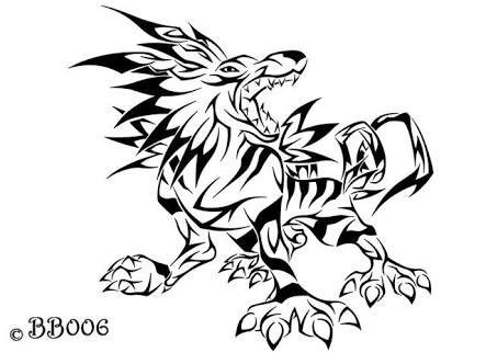Tribal Garurumon Tribal Pokemon Pokemon Tattoo Tribal Art