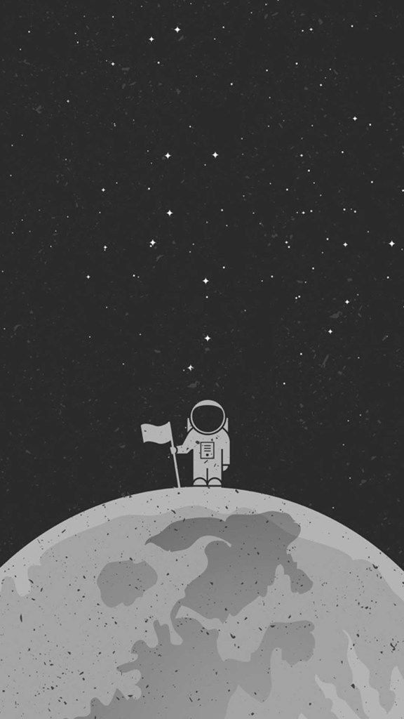 Wallpaper Background Iphone Mobile Black Astronaut Space