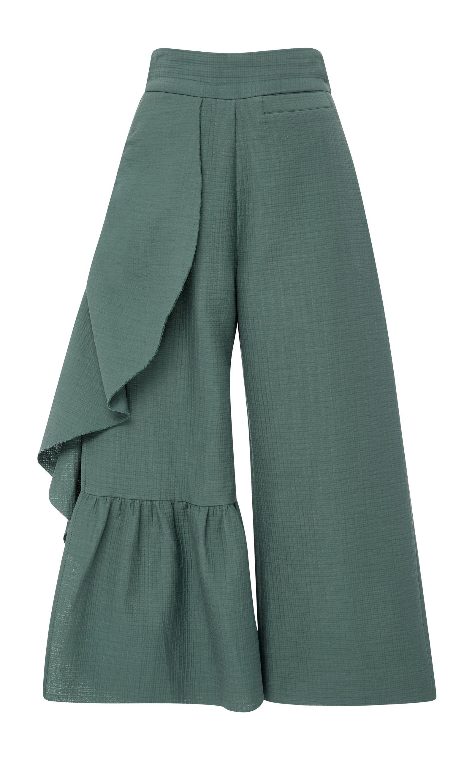Cropped Ruffle Revel Pants by RACHEL COMEY Now Available on Moda Operandi Pantalon  Ancho Mujer 093fc07c3dfc
