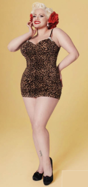 Vintage style bathing suits are made to show off full figures. Repin this!