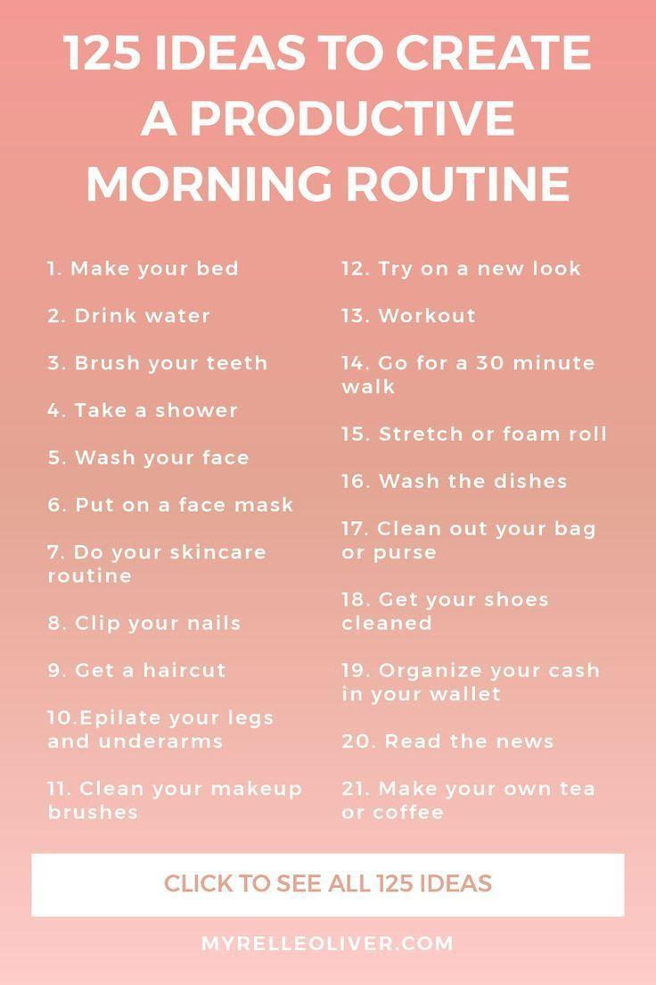 125 Ideen für eine produktive Morgenroutine   Myrelle Oliver   – Personal Development