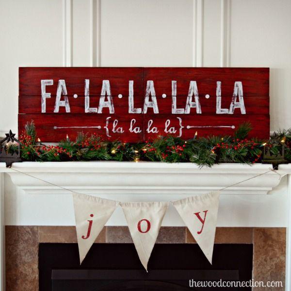 Fa La La La La Christmas Sign   The Wood Connection Blog