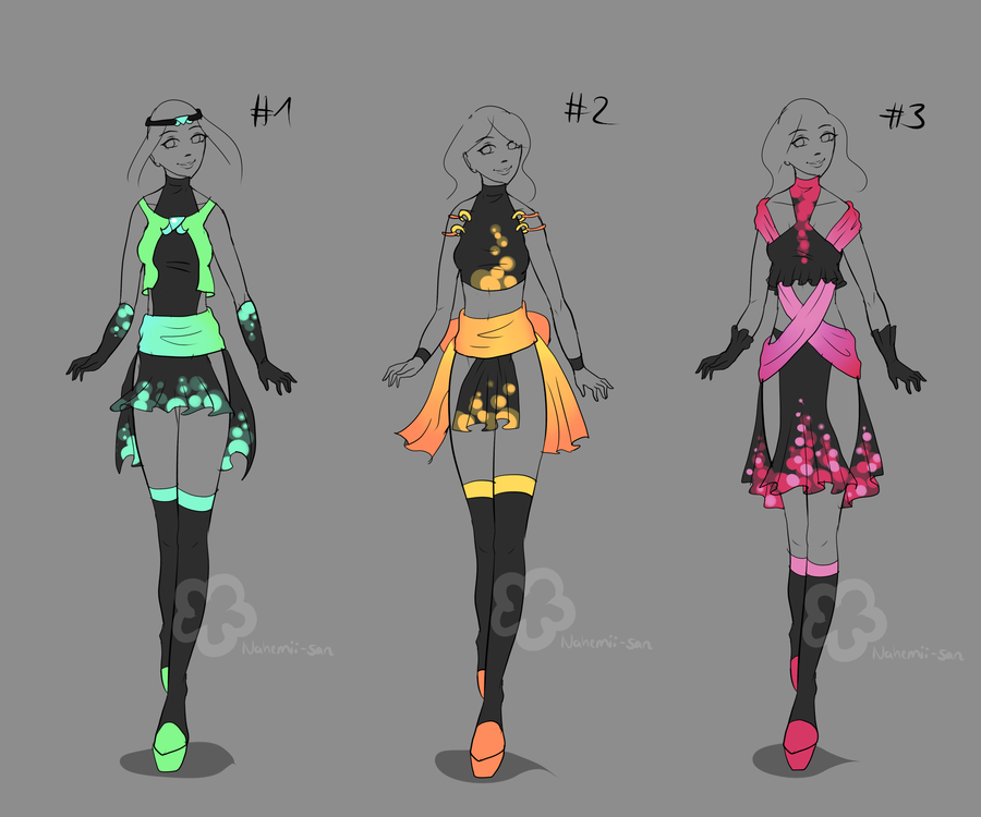 More Glowing Dresses - sold by Nahemii-san on deviantART | diy | Pinterest | 2! Outfit ideas ...