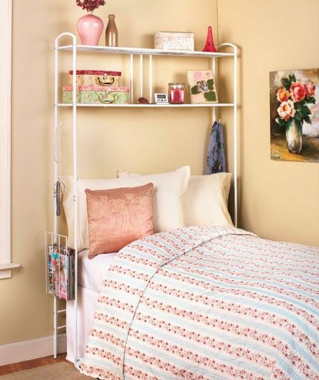 Decorating Ideas > New Over The Bed Storage Dorm Room Space Saver Metal Unit  ~ 121707_Dorm Room Space Saver Ideas