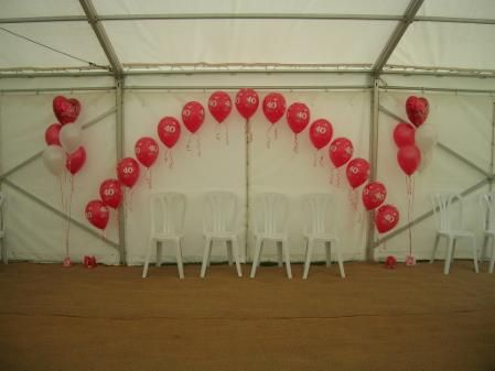 Helium Balloon Arches - Balloons chair cover hire wedding parties surrey