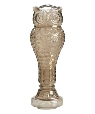 Loving this Taupe Glass Owl Figure on #zulily! #zulilyfinds