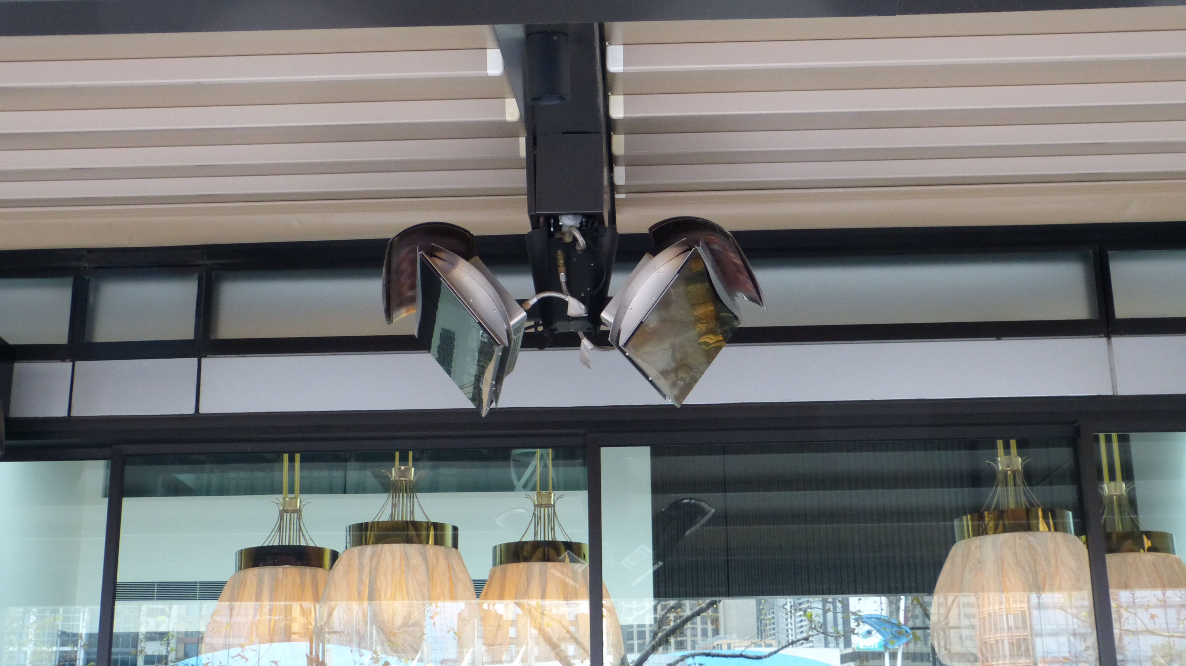 One Of Our Hospitality Projects The Number 8 Restaurant Southbank Melbourne Alutecnic Retractable Roof System Melbourne Awning Roof Roofing Systems Awning