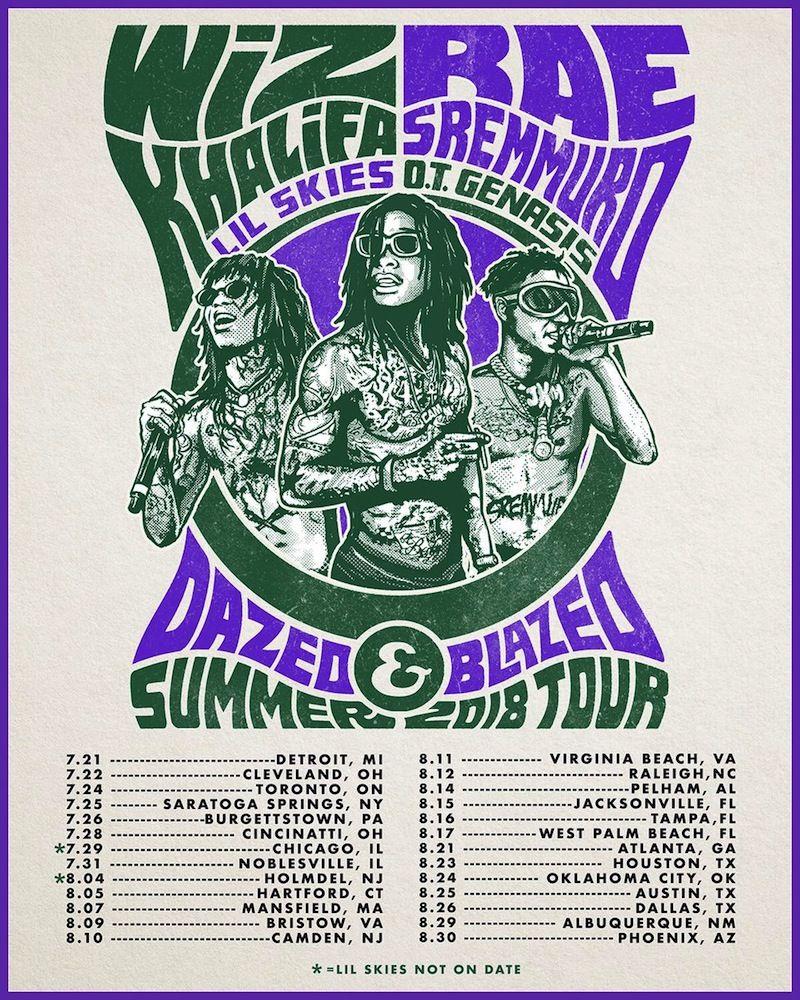 Wiz Khalifa And Rae Sremmurd Dazed   Blazed Summer Amphitheater Tour 2018  558febc5f
