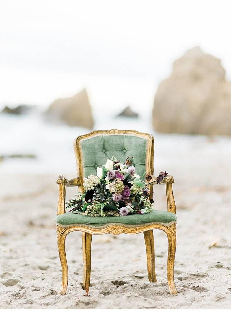 Wedding chair decorations diy  Göttin der Meere  inspirierendes Strandshooting  Bridal shoot