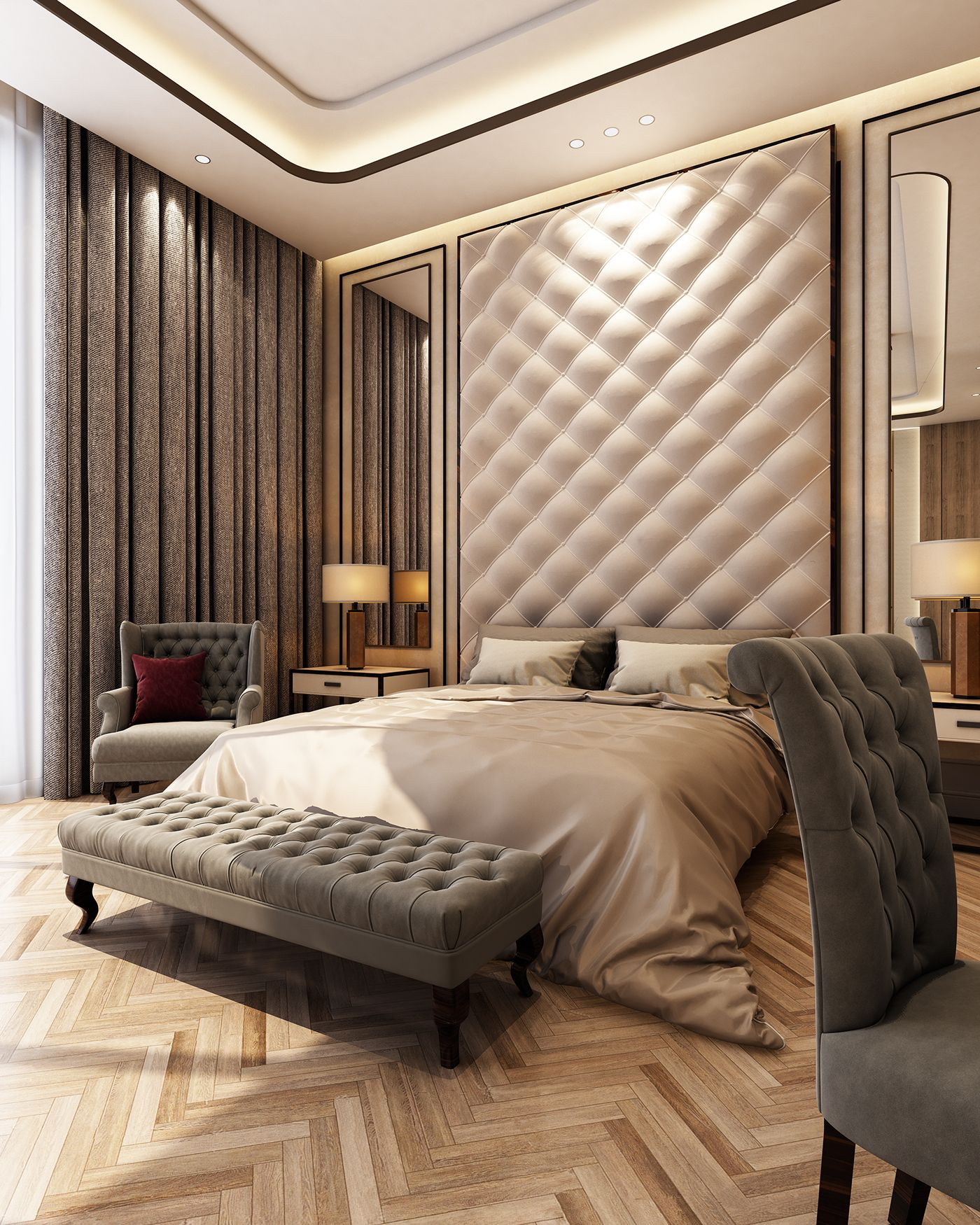 Modern Bedroom Layout Luxury Master Bedroom With Living Area On Behance Ceiling In