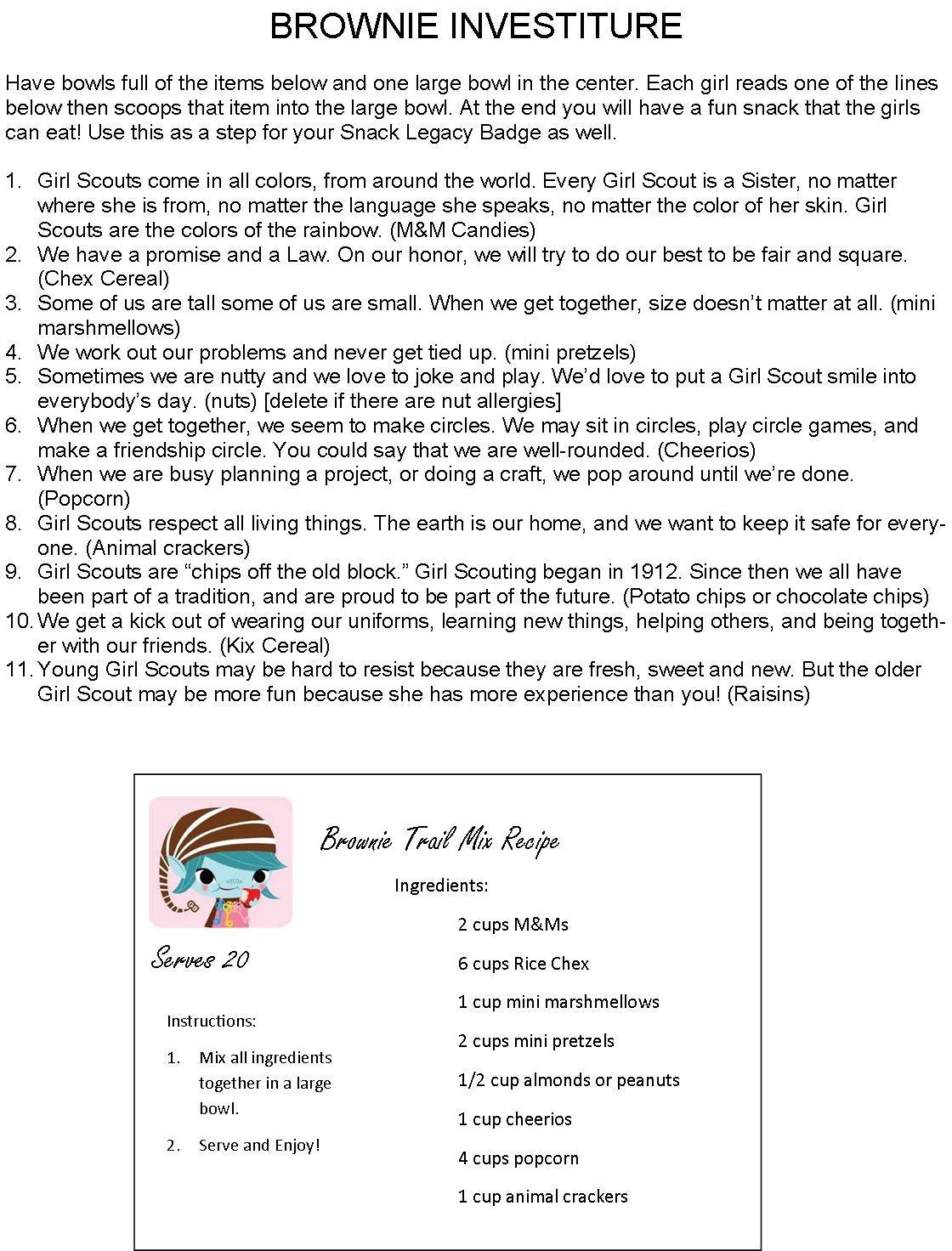 Gorp Recipe Girl Scouts
