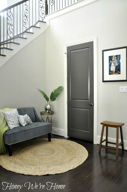 Again with the dark interior doors... also I want the majority of my walls to be off-white/grey - entirely neutral.