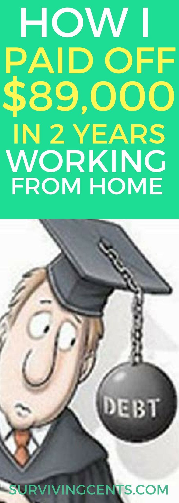 Looking for a plan to pay off debt? Learned how I paid of over $89,000 in debt in just 2 years by working from home and setting myself up for the future.