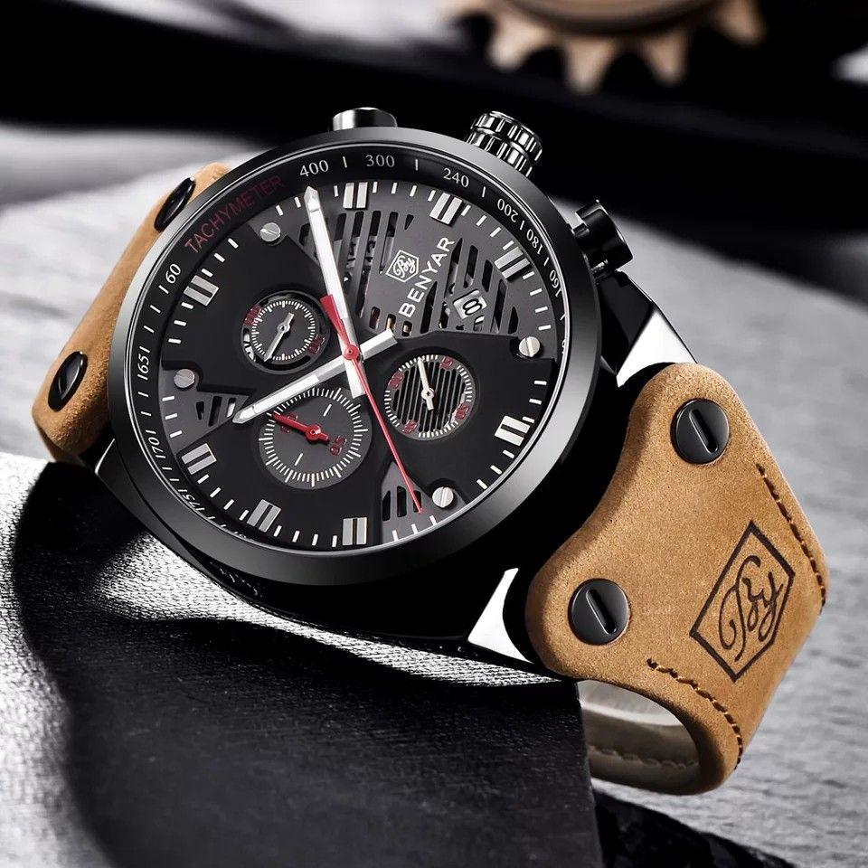BENYAR CHRONO 5110M | Chrono, Leather straps, Watches for men