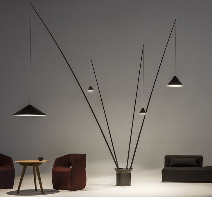 North by Arik Levy for Vibia, a suspended lamp in any version