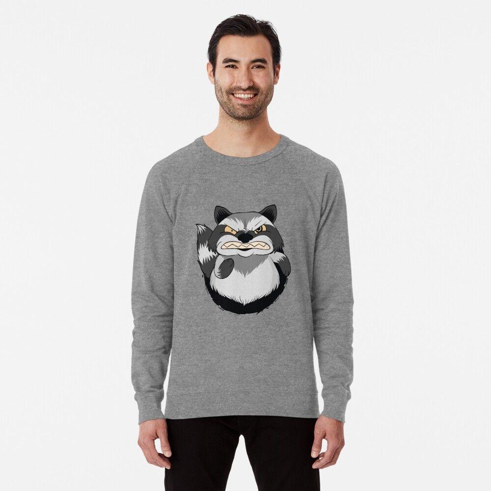 Angry Raccoon T Shirt Lightweight Sweatshirt By Melar Sweatshirts Cool Shirts Shirts [ 1000 x 1000 Pixel ]