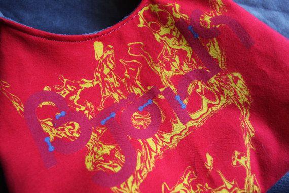 Bjork - Upcycled Rock Band T-shirt Purse - OOAK $26