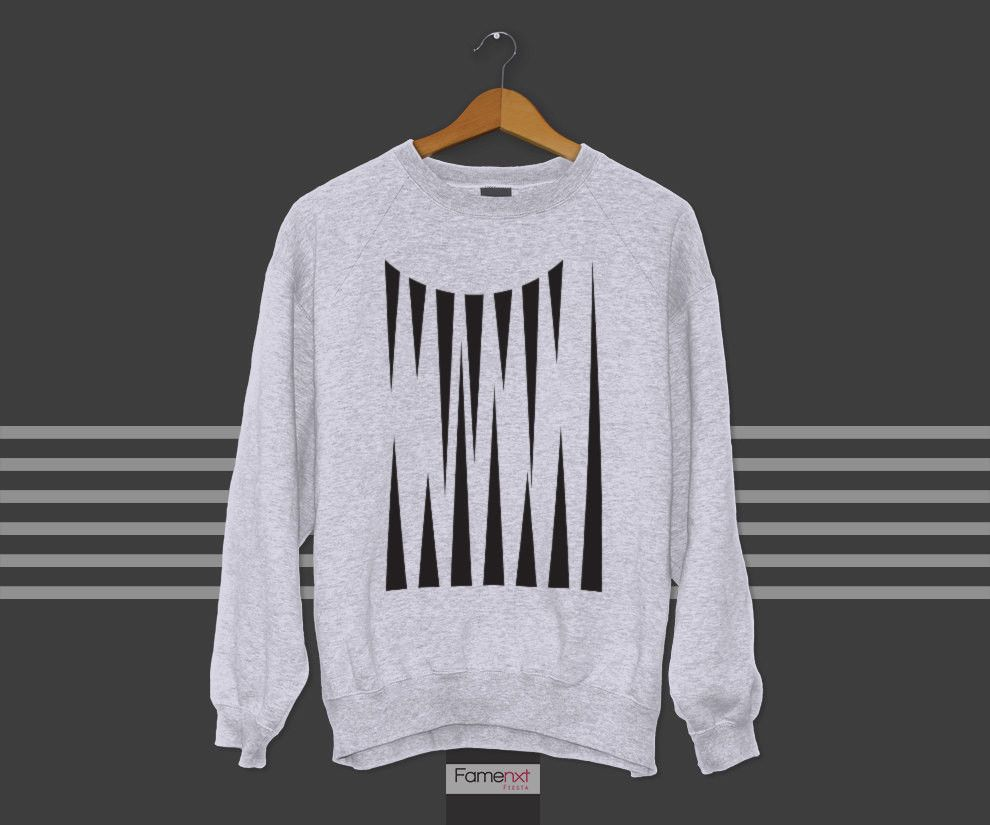 501c53f27514 Crewneck Sweatshirt Geometric pattern triangles Graphic Unisex Jumper