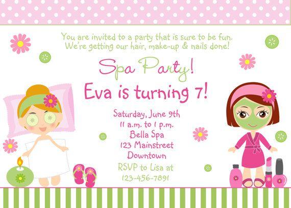 Spa Birthday Party Invitation Spa Party Invitation Ruslana 6