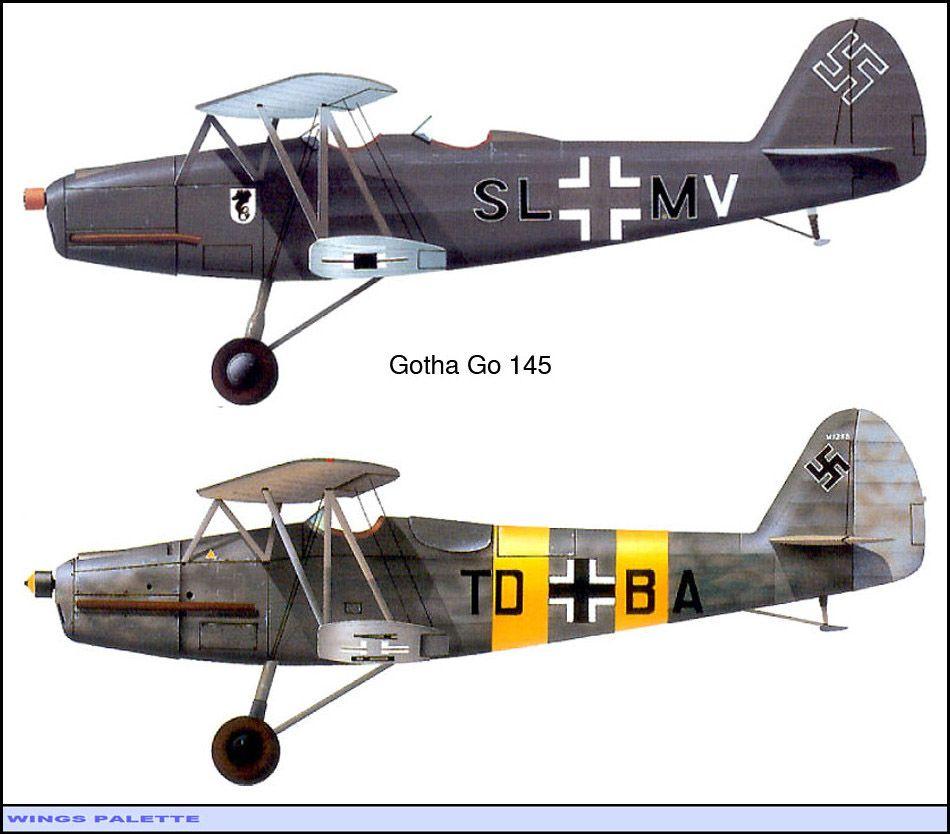 Gotha Go 145 Ww2 Aircraft Military Aviation Art