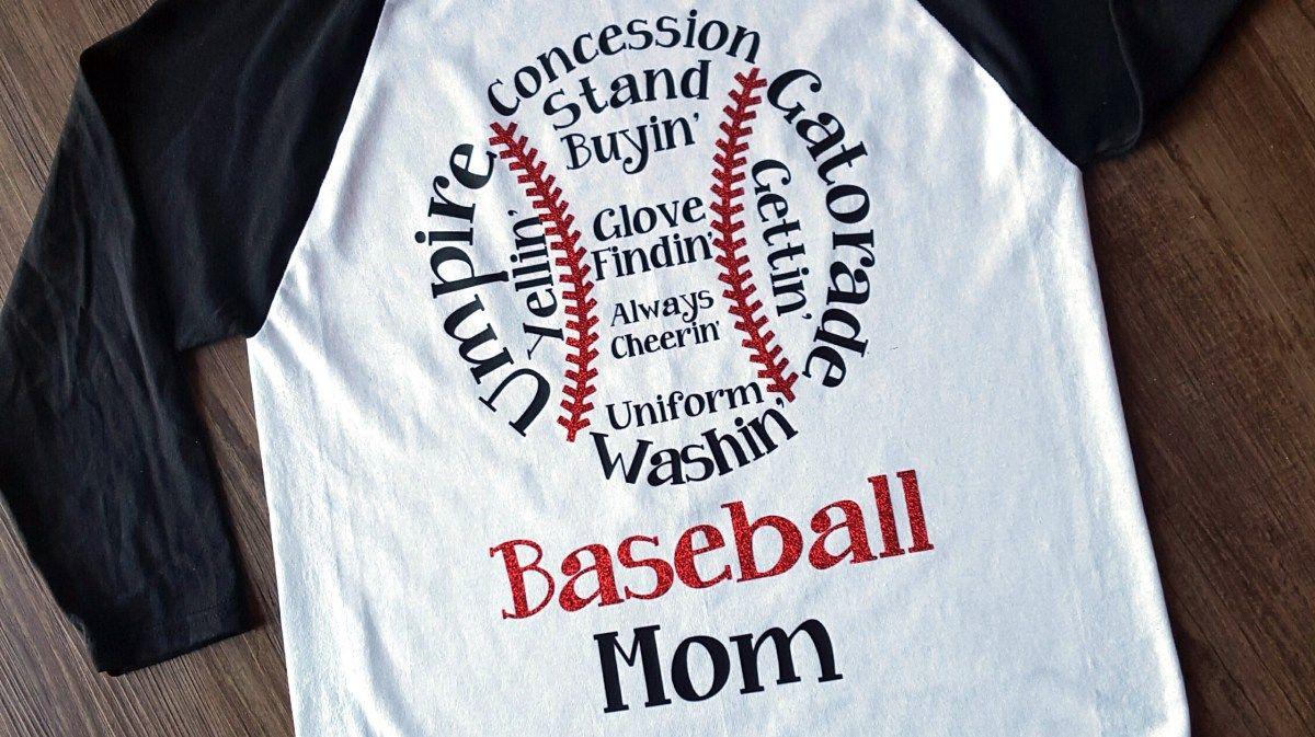 Baseball Mom Shirt (With images) Baseball mom shirts