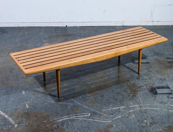 Outstanding Mid Century Modern Slat Bench Coffee Table Adrian Pearsall Creativecarmelina Interior Chair Design Creativecarmelinacom