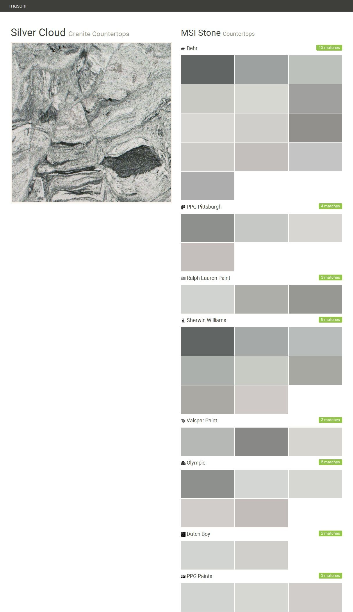 Tile » MSI Stone Silver cloud, Valspar paint colors gray