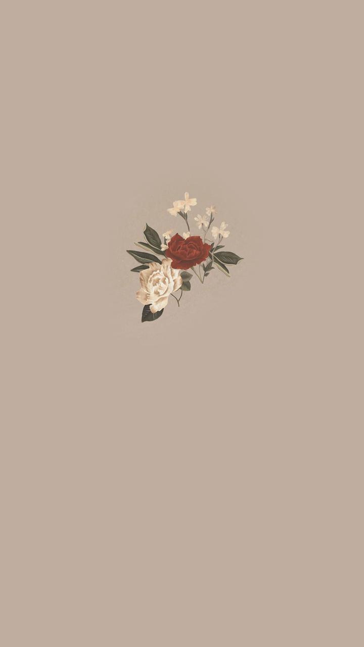 Wfaves Cute Simple Wallpapers Flower Phone Wallpaper Aesthetic Iphone Wallpaper
