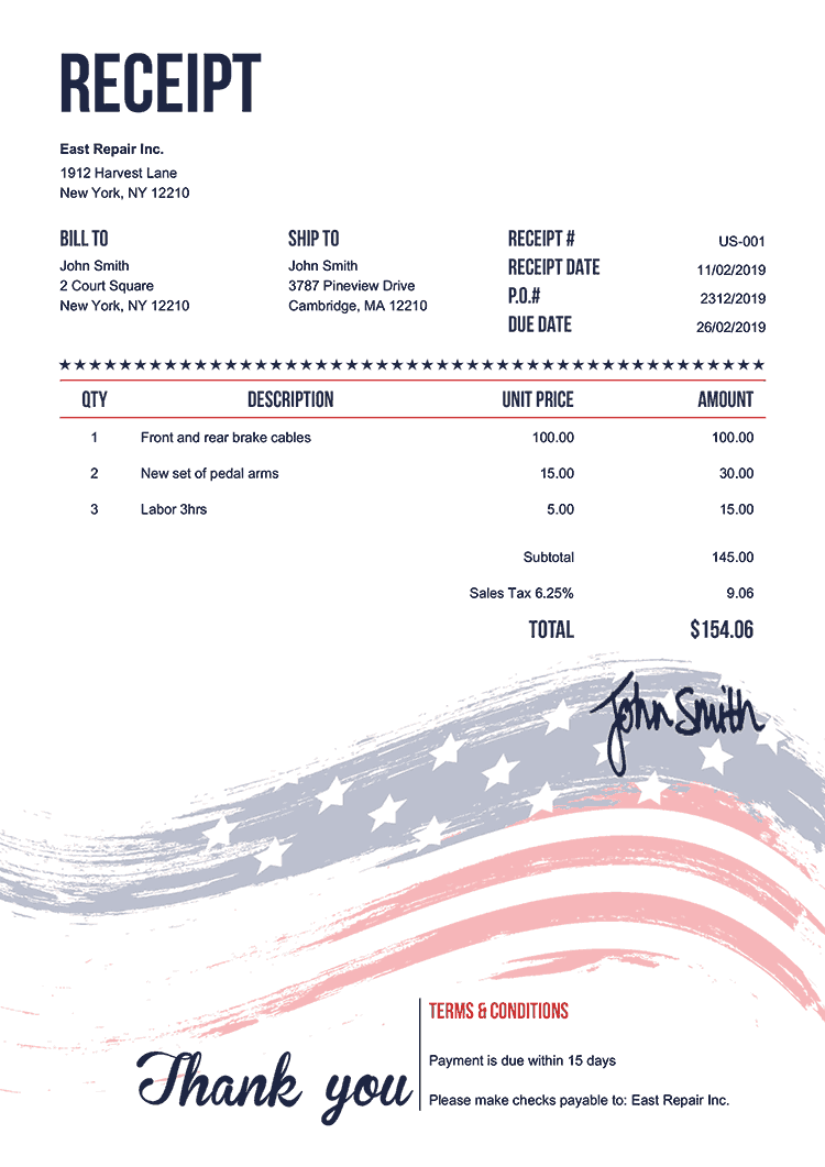 Receipt Templates In 2021 Invoice Template Receipt Template Quote Template