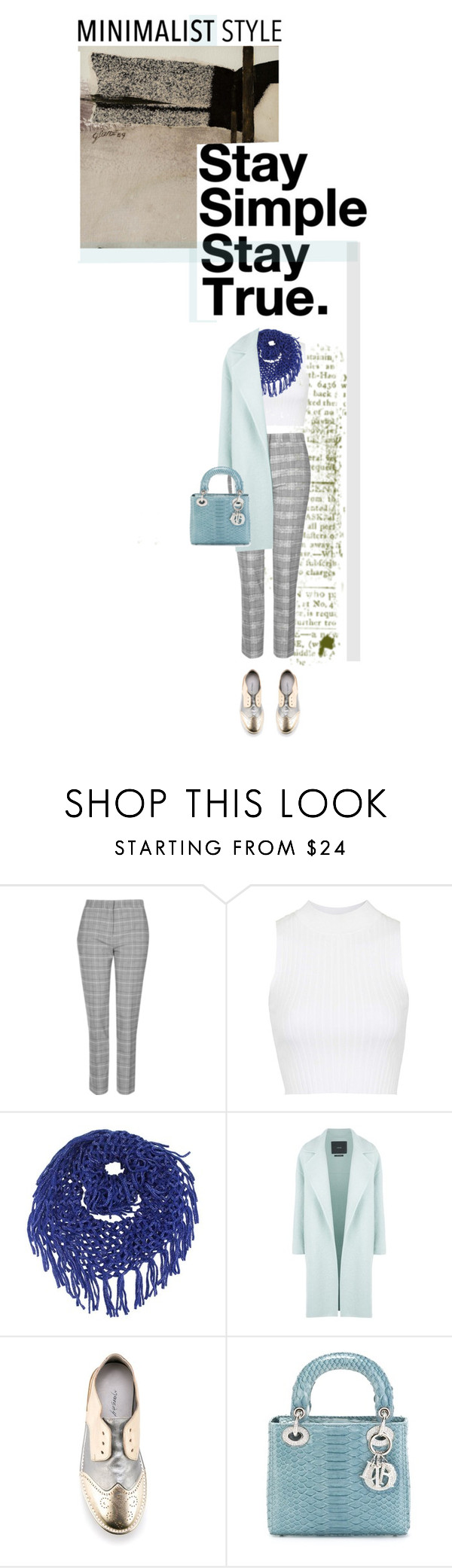 """""""Stay simple, stay true"""" by no-where-girl ❤ liked on Polyvore featuring Topshop, MaxMara, Marsèll, Christian Dior and Minimaliststyle"""