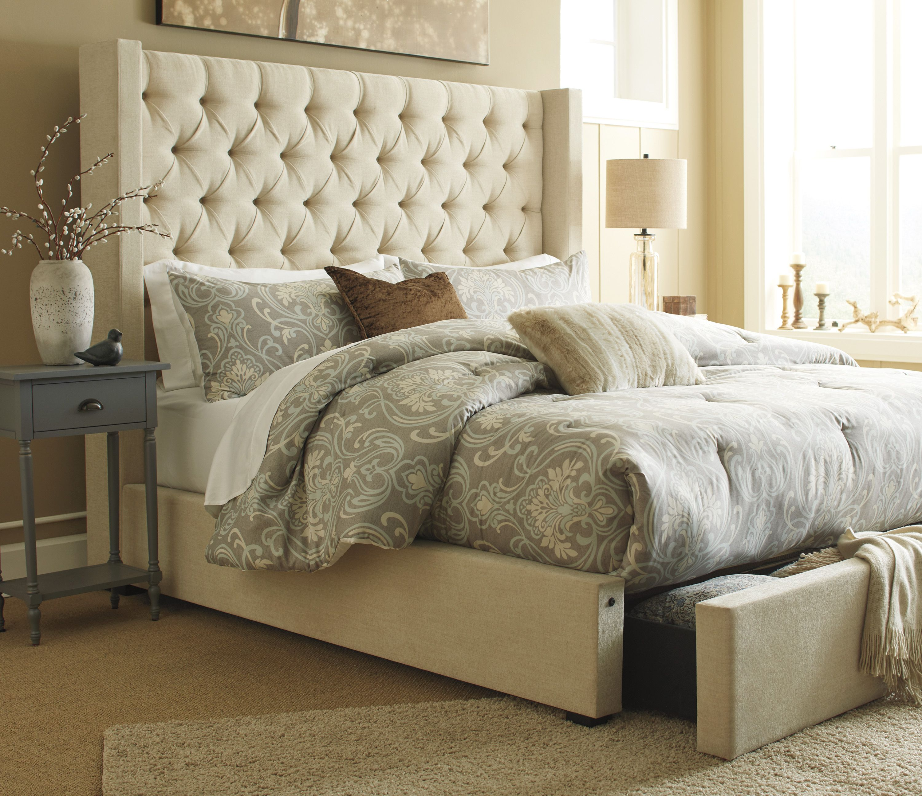 Norrister Queen Bed Is A Breath Of Fresh Style This Masterpiece