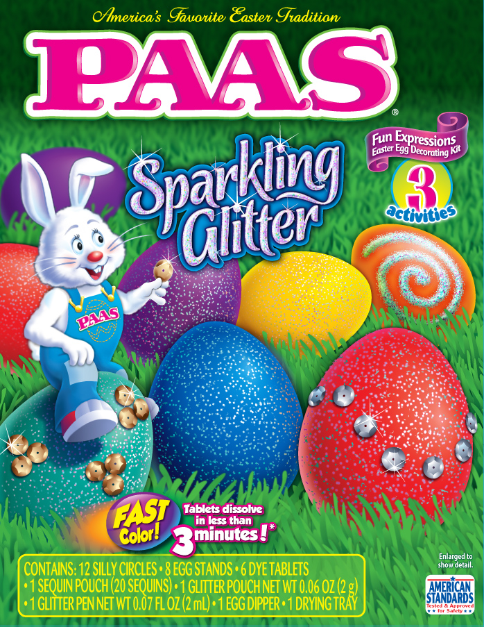 PAAS Sparkling Glitter egg decorating kit easter Egg