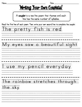 Writing couplets for the kiddos pinterest writing poetry and writing couplets for the kiddos pinterest writing poetry and poetry lessons ibookread Download
