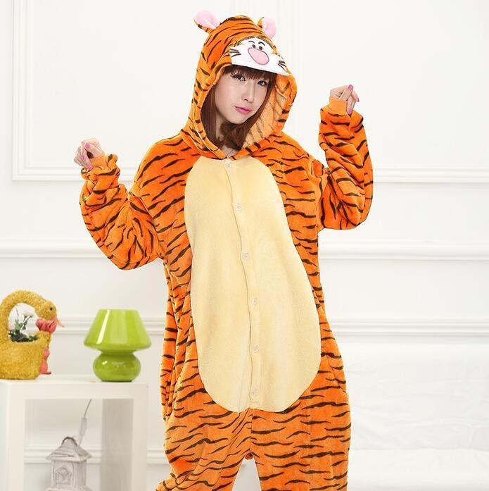 e2e2ccbccd Wholesale Dinosaur Unicorn Pikachu Unisex Flannel Hoodie Pajamas Costume  Cosplay Animal Onesies Sleepwear Men Women Christmas