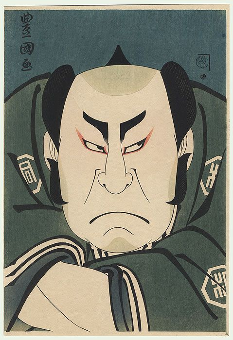 Angry Samurai by Toyokuni I (1769 - 1825)