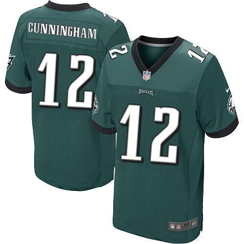4ccaca511 ... Nike NFL Philadelphia Eagles 12 Randall Cunningham Elite Midnight Green  Team Color Throwback Jersey Sale ...
