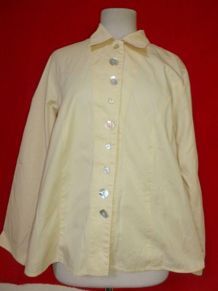 J Jill Pure Cotton Shirt Blouse Women S Button Front Long Sleeve